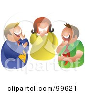 Royalty Free RF Clipart Illustration Of A Business Team Laughing
