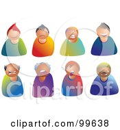 Royalty Free RF Clipart Illustration Of A Digital Collage Of Moody Male Avatars by Prawny