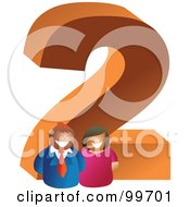 Royalty Free RF Clipart Illustration Of People Around A Large Number 2