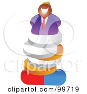 Businessman On A Pile Of Pill