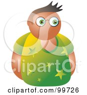 Royalty Free RF Clipart Illustration Of A Man In A Starry Shirt Avatar by Prawny