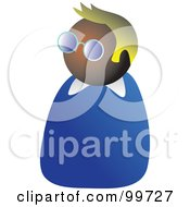 Royalty Free RF Clipart Illustration Of A Man In Glasses Avatar by Prawny