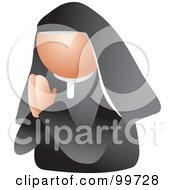 Royalty Free RF Clipart Illustration Of A Praying Nun Avatar by Prawny