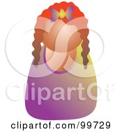 Royalty Free RF Clipart Illustration Of A Red Haired Girl Avatar by Prawny