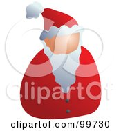Royalty Free RF Clipart Illustration Of A Faceless Santa Avatar by Prawny