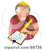 Writing Man Avatar
