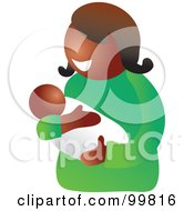 Royalty Free RF Clipart Illustration Of A Happy Black Mom Holding Her Infant Child
