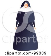 Royalty Free RF Clipart Illustration Of A Happy Female Nun by Prawny