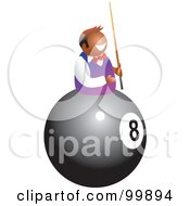 Royalty Free RF Clipart Illustration Of A Man On An Eightball