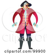 Royalty Free RF Clipart Illustration Of A Male Pirate In A Red Coat