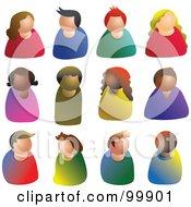 Digital Collage Of Faceless People Avatars