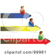 Royalty Free RF Clipart Illustration Of A Business Team On Arrow Results