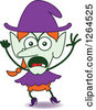 Clipart Of A Furious Halloween Witch Royalty Free Vector Illustration by Zooco