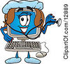 Clipart Picture Of A Desktop Computer Mascot Cartoon Character by Toons4Biz