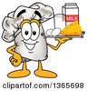 Clipart Of A Toque Chefs Hat Mascot Character Serving Dairy Foods On A Tray Royalty Free Vector Illustration by Toons4Biz