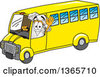 Clipart Of A Toque Chefs Hat Mascot Character Waving And Driving A Bus Royalty Free Vector Illustration by Toons4Biz