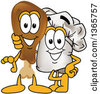 Clipart Of A Toque Chefs Hat Mascot Posing With A Poultry Drumstick Character Royalty Free Vector Illustration by Toons4Biz