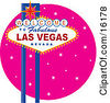 Poster, art print of Welcome To Fabulous Las Vegas Nevada Sign Against A Pink Starry Night