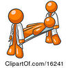 Injured Orange Man Being Carried On A Gurney To An Ambulance Or Into The Hospital By Two Paramedics After An Accident Or Health Problem Clipart Graphic by Leo Blanchette
