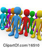 Crowd Of Diverse And Different Colored People Standing In A Group Clipart Illustration Graphic by 3poD