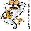 Clipart Picture Of A Tornado Mascot Cartoon Character Whispering by Toons4Biz