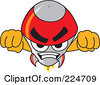 Royalty Free RF Clipart Illustration Of A Rocket Mascot Cartoon Character Flying Forward by Toons4Biz