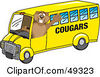 Royalty Free RF Clipart Illustration Of A Cougar Mascot Character School Bus Driver by Toons4Biz