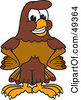 Royalty Free RF Clipart Illustration Of A Falcon Mascot Character With His Hands On His Hips by Toons4Biz
