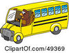 Royalty Free RF Clipart Illustration Of A Falcon Mascot Character Bus Driver by Toons4Biz