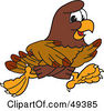 Royalty Free RF Clipart Illustration Of A Falcon Mascot Character Running by Toons4Biz