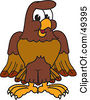 Royalty Free RF Clipart Illustration Of A Falcon Mascot Character by Toons4Biz
