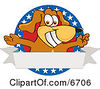 Brown Dog Mascot Cartoon Character With Open Arms With A Blank Label Clipart Picture by Toons4Biz