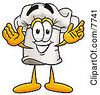 Clipart Picture Of A Chefs Hat Mascot Cartoon Character With Welcoming Open Arms by Toons4Biz