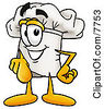 Clipart Picture Of A Chefs Hat Mascot Cartoon Character Pointing At The Viewer by Toons4Biz