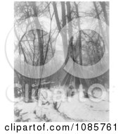 Tipi In Winter Free Historical Stock Photography