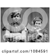Two Grinning Glassworker Boys Posing With Their Arms Crossed In1909 Free Historical Stock Photography Photography by JVPD