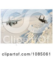 Two United States Air Force F 15E Strike Eagle Aircraft Conducting A Flight Over Afghanistan Free Stock Photography by JVPD