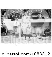 Ty Cobb In His Detroit Tigers Baseball Uniform Standing In Front Of A Dugout During A Game Free Historical Baseball Stock Photography by JVPD