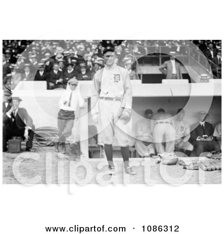 Ty Cobb In His Detroit Tigers Baseball Uniform, Standing In Front Of A Dugout During A Game - Free Historical Baseball Stock Photography by JVPD