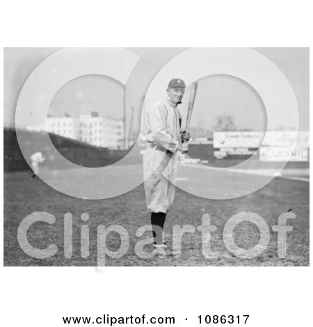 Ty Cobb Of The Detroit Tigers, Standing And Posing With A Bat In A Field - Free Historical Baseball Stock Photography by JVPD
