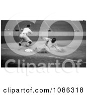 Ty Cobb Sliding Safe To Third Base After Making A Triple Free Historical Baseball Stock Photography by JVPD