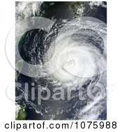 Typhoon Muifa On August 4th 2011 Royalty Free Stock Photography