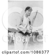 Tyrus Raymond Cobb Holding A Baseball Bat Free Historical Baseball Stock Photography by JVPD