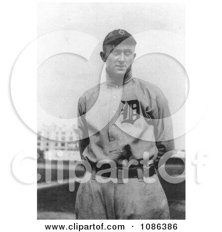 Tyrus Raymond Cobb in Full Uniform for the Detroit Tigers Baseball Team - Free Historical Baseball Stock Photography by JVPD