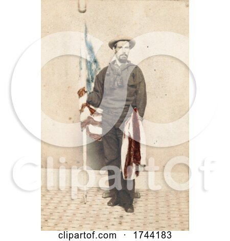 Union Sailor with an American Flag by JVPD