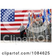 United States Army Soldiers Clapping As Vice President Dick Cheney Enters Holt Stadium Before Addressing Uniformed Service Members At Logistics Support Area Anaconda On Balad Air Base Iraq March 18th 2008 Free Stock Photography by JVPD