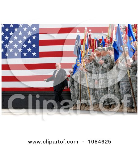 United States Army Soldiers Clapping As Vice President Dick Cheney Enters Holt Stadium Before Addressing Uniformed Service Members At Logistics Support Area Anaconda On Balad Air Base, Iraq, March 18th 2008 - Free Stock Photography by JVPD