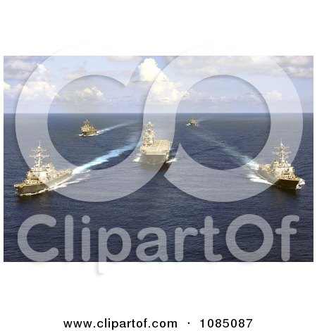 United States Military Ships And Aircraft Carriers On The Atlantic Ocean - Free Stock Photography by JVPD