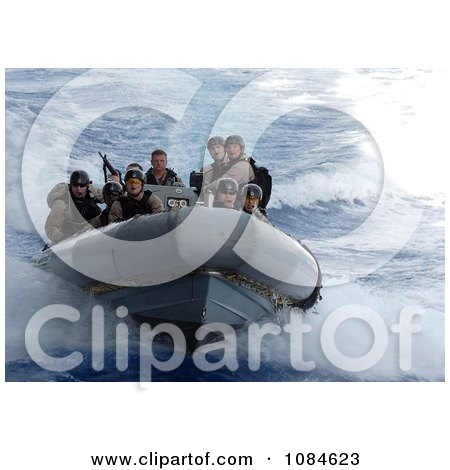 United States Navy Sailors Riding a Rigid Hull Inflatable Boat During a Training Exercise - Free Stock Photography by JVPD