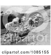US Marines On Iwo Jima Free Stock Photography by JVPD